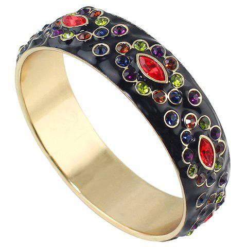 Trendy Colored Rhinestoned Round Bracelet For Women
