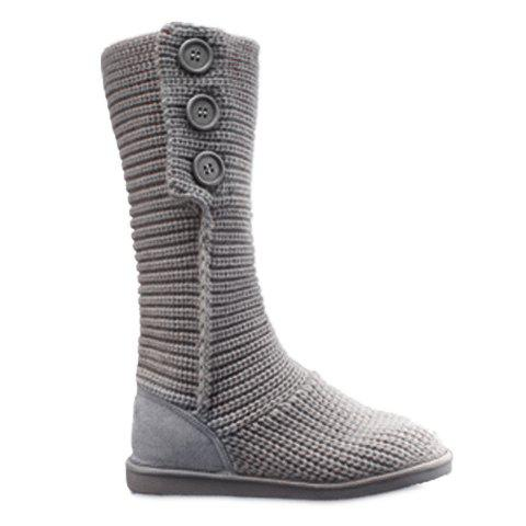 Stylish Knitting and Button Design Snow Boots For Women btksyxgs 2017 women s wool snow boots 100