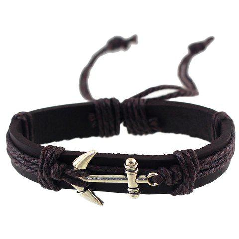 Anchor Faux Leather Bracelet - RANDOM COLOR