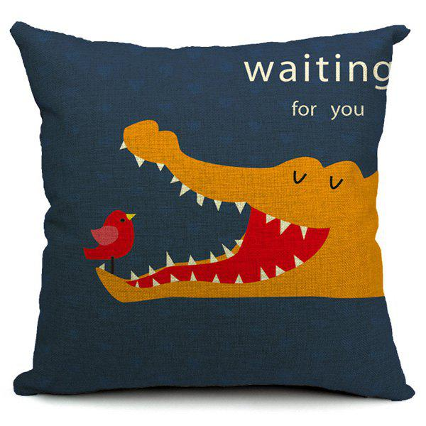 Creative Crocodile Pattern Simple Pillow Case (Without Pillow Inner) - COLORMIX