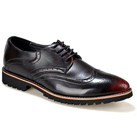 Vintage Engraving and Round Toe Design Formal Shoes For Men