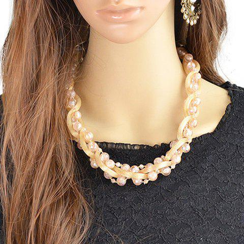 Exquisite Faux Crystal Bead Necklace For Women - RANDOM COLOR