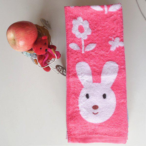 Comfortable Brand New Cotton Bunny Print Soft Absorbent Cleansing Cloths Hand Face Towel - RANDOM COLOR