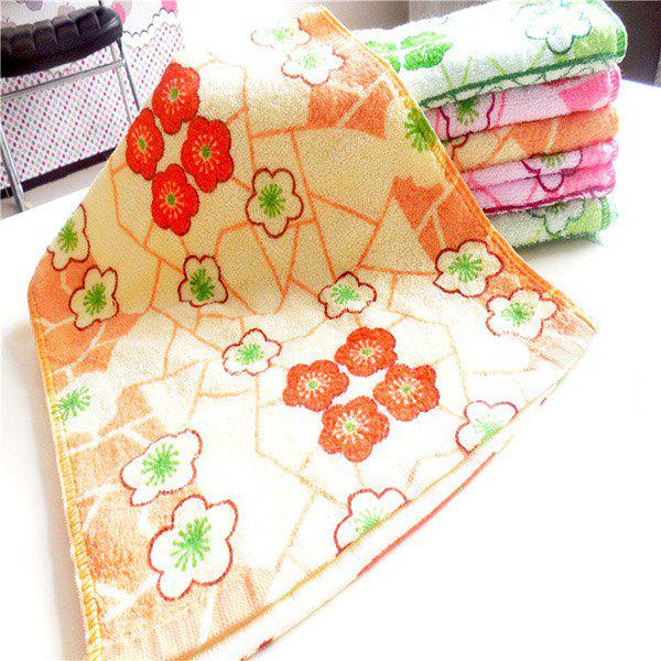 Comfortable Bamboo Fiber Flower Printed Soft Absorbent Cleansing Cloths Hand Face Towel - RANDOM COLOR