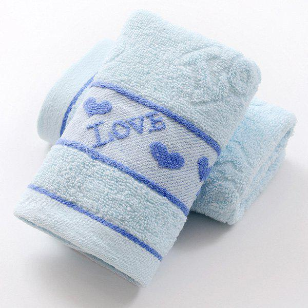Fashionable Heart Pattern Solid Color Brand New Soft Absorbent Cleansing Cloths Face Towel