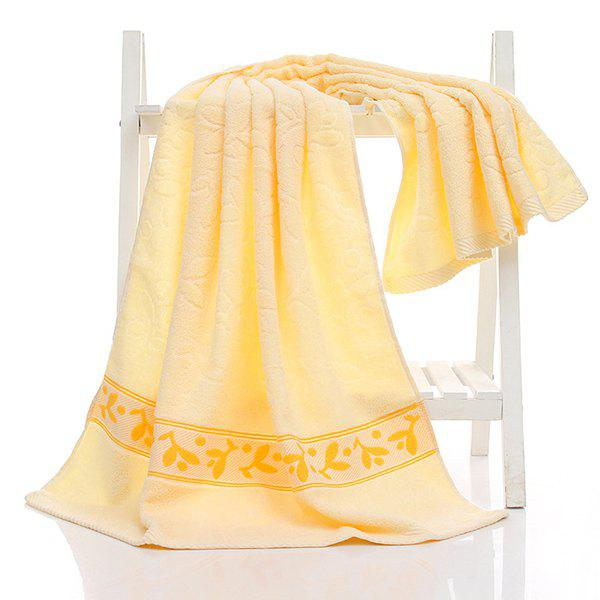 Simple New High Quality Soft Towels Face Towel Hand Towels Bath 3 Colors - YELLOW