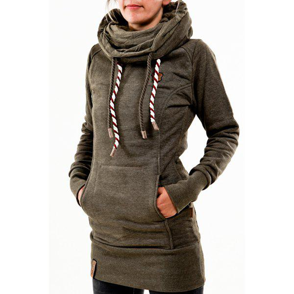 chic hooded long sleeve star hoodie for women. Black Bedroom Furniture Sets. Home Design Ideas