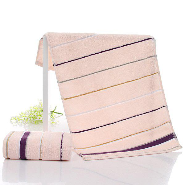 Simple New High Quality Soft Striped Face Towel Hand Towel - ORANGE