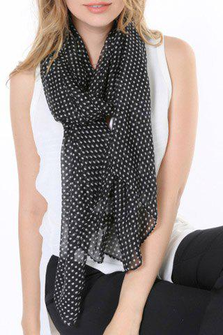 Chic Polka Dots Pattern Multifunctional Women's Scarf - BLACK
