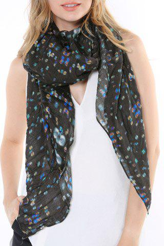 Chic Fulled Colorful Bubble Pattern Multifunctional Scarf For Women