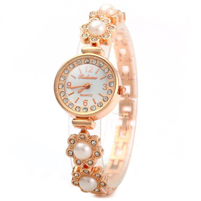 REDEWE Female Diamond Quartz Watch Flower Chain Band