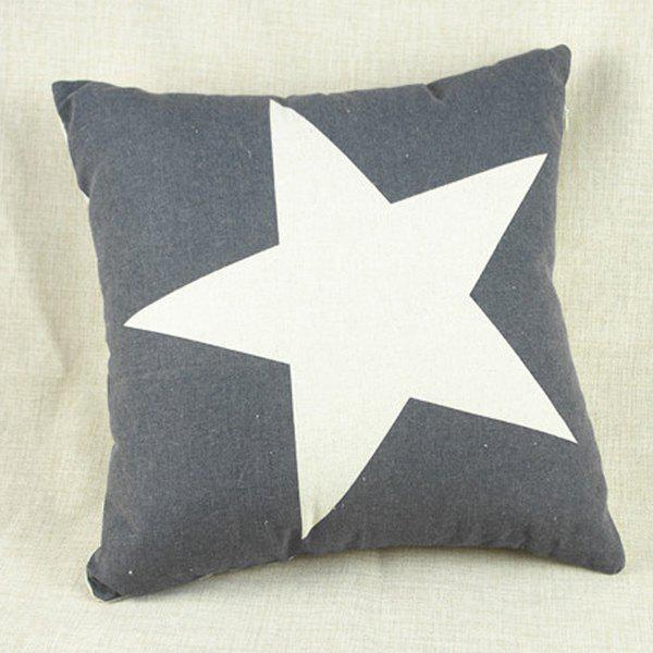 Fashion Square Star Pattern Decorative Pillowcase (Without Pillow Inner) - GREY/WHITE