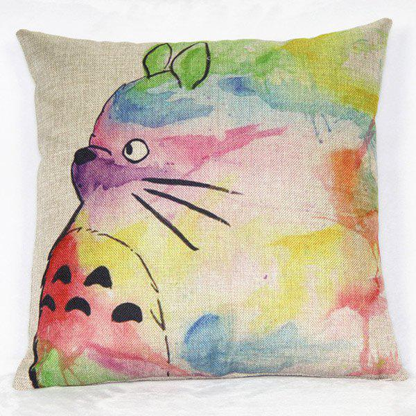 Classical Cat Pattern Square Decorative Pillowcase(Without Pillow Inner) - COLORMIX