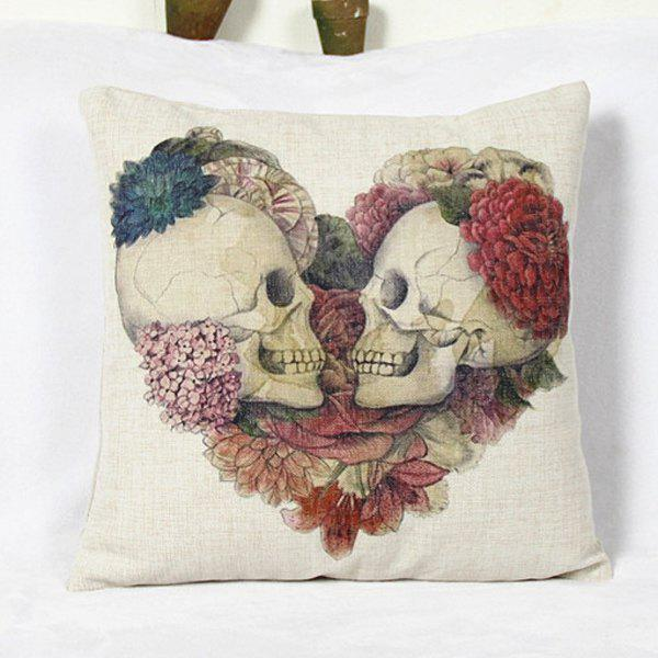 Classical Skull Pattern Square Decorative Pillowcase(Without Pillow Inner) - COLORMIX