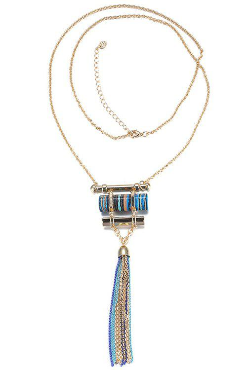 Chain Tassels Necklace For Women - GOLDEN