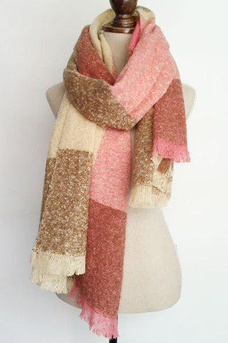 Chic Stripe Pattern Fringed Edge Multifunctional Loop Yarn Scarf For Women - COLOR ASSORTED
