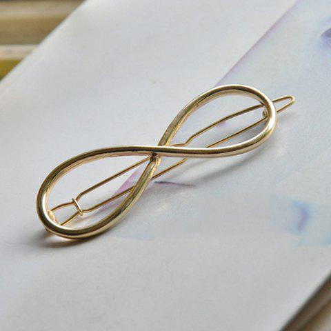 Sweet Style Bow Hollow Out Hairgrip For Women - GOLDEN