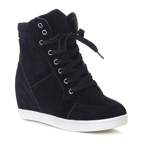 Simple Suede and Pure Color Design Athletic Shoes For Women
