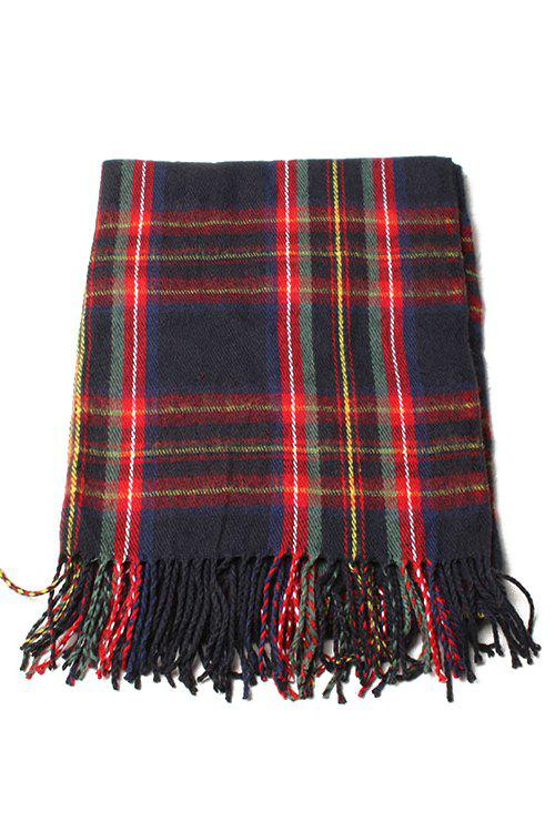 Chic Plaid Pattern Tassel Scarf For Women