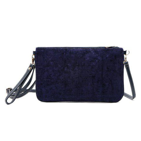 Trendy Corduroy and Solid Color Design Women's Clutch Bag