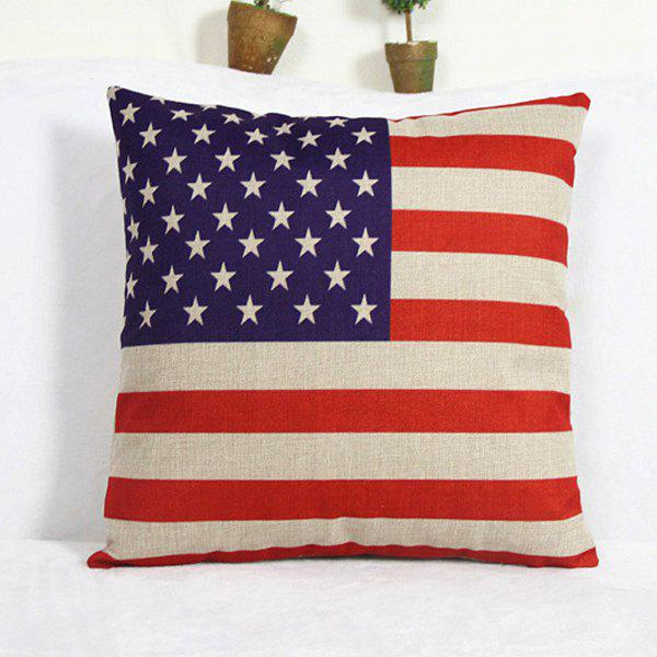 Classical Square America Flag Pattern Pillowcase(Without Pillow Inner) - BLUE/RED
