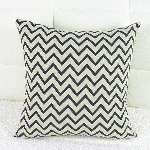 Casual Square Wave Pattern Decorative Pillowcase(Without Pillow Inner) -  WHITE/BLACK