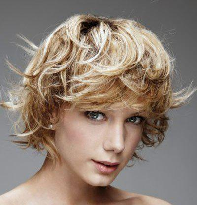 Fluffy Curly Side Bang Capless Fashion Short Charming Mixed Color Synthetic Women's Wig - COLORMIX