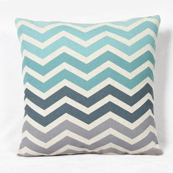 Modern Stripe Pattern Square Pillowcase(Without Pillow Inner) - COLORMIX