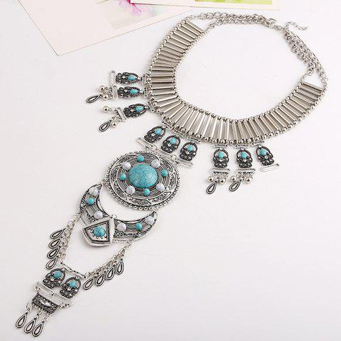 Vintage Layered Waterdrop Tassel Necklace For Women