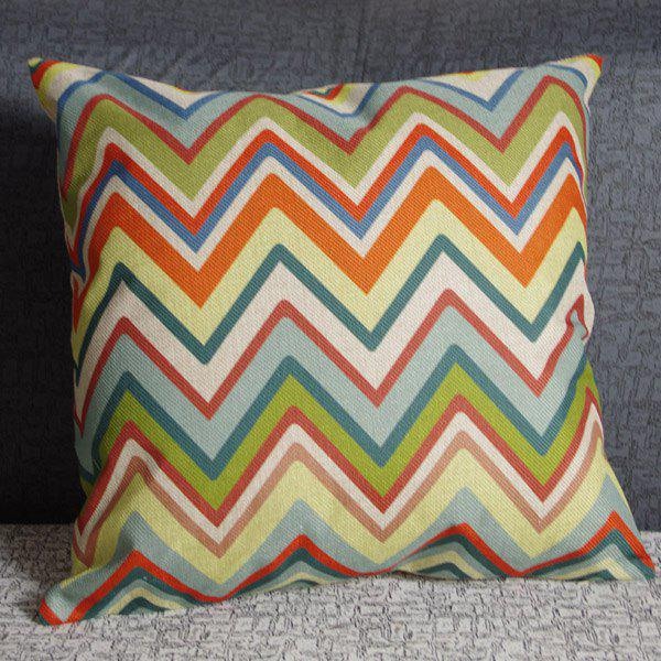 Classical Wave Pattern Square Pillowcase(Without Pillow Inner) - COLORMIX