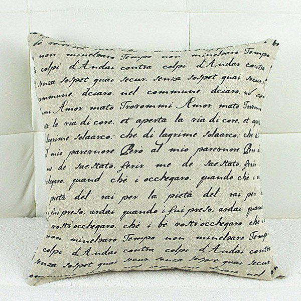 Fashion Square Letter Pattern Pillowcase(Without Pillow Inner) - WHITE/BLACK