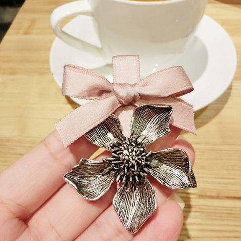 Vintage Bow Flower Women's Hairpin - PINK