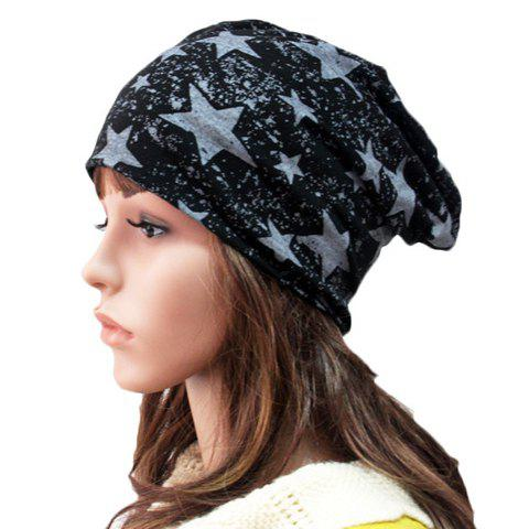 Chic Five-Pointed Star Pattern Double-Deck Beanie For Women - RANDOM COLOR
