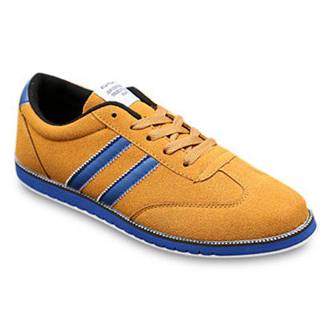 Trendy Suede and Colour Block Design Casual Shoes For Men - BROWN 43
