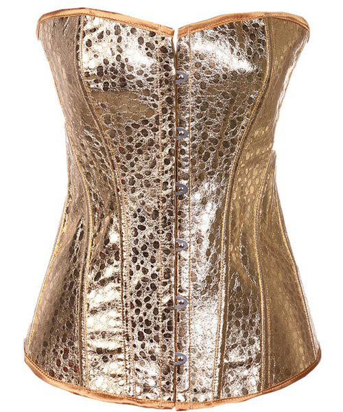 Chic Strapless Gold Corset For Women - GOLDEN S