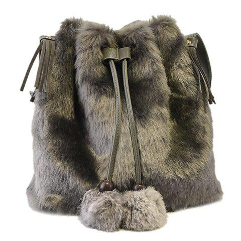 Sweet Tassel and String Design Crossbody Bag For Women - GRAY