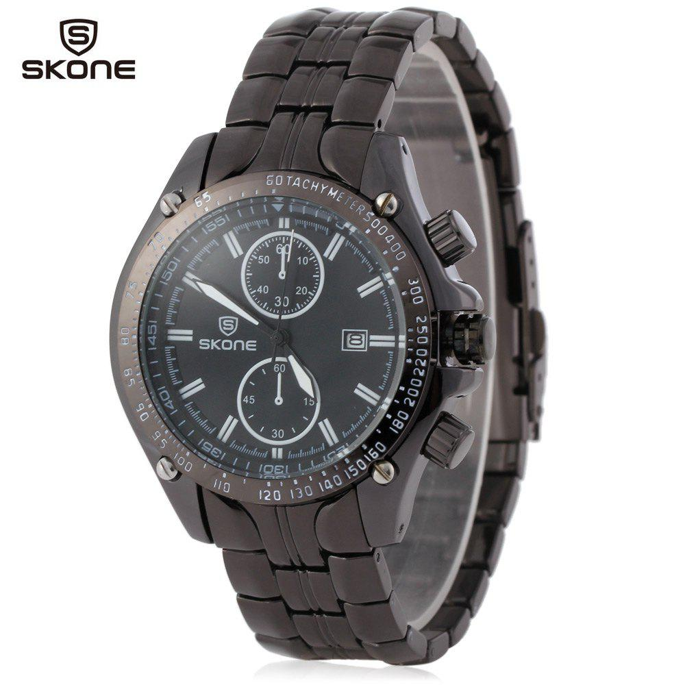 SKONE 5047 Men Calendar Sports Watch Date Display Decorating Small Sub-dials - WHITE