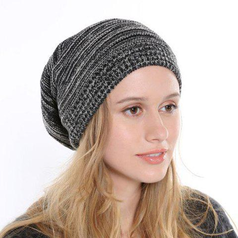Chic Simple Mixed Color Women's Knitted Beanie