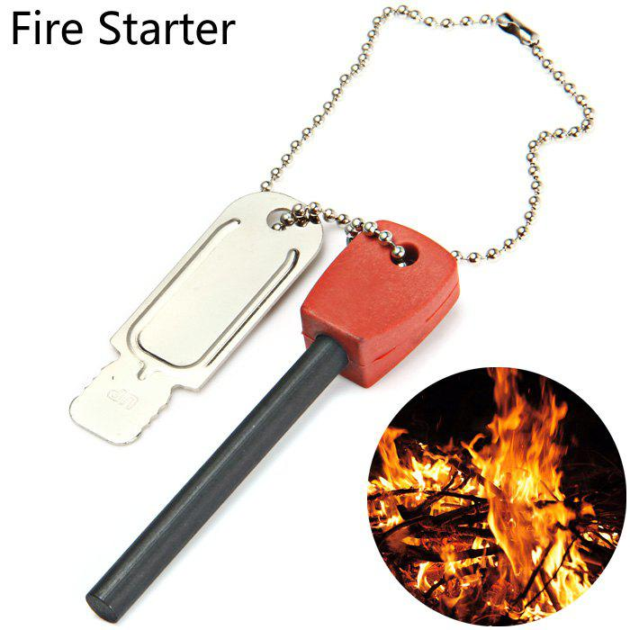 LM-3K 2 in 1 Multi-function Fire Starter with Scraper Survival Gear 10a 5 in 1 multi purpose flashlight fire starter compass lanyard buckle