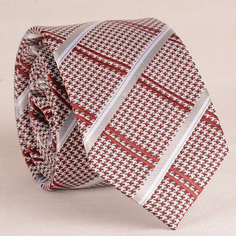 Stylish Houndstooth and Stripe Pattern 6.5CM Width Men's Tie - CHECKED