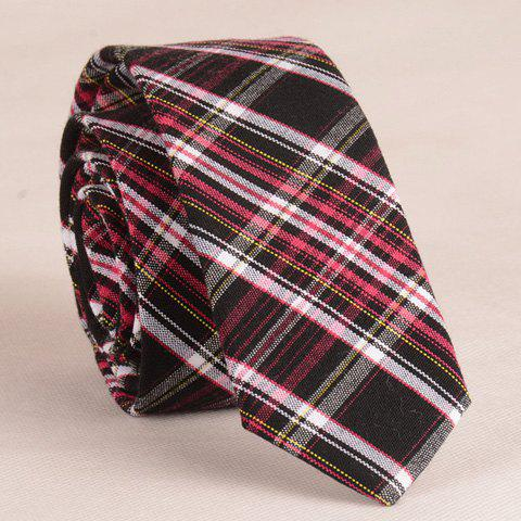 Stylish Plaid Pattern Black Color Matching 5CM Width Tie For Men - CHECKED