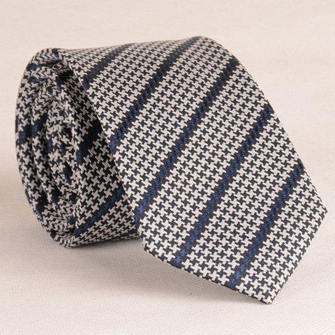 Stylish Houndstooth and Twill Pattern 6.5CM Width Men's Tie - SMOKY GRAY
