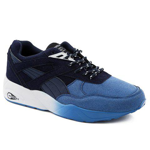Stylish Suede and Round Toe Design Athletic Shoes For Men - BLUE 40