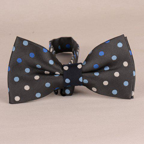 Stylish Polka Dots Pattern Men's Black Bow Tie - BLACK
