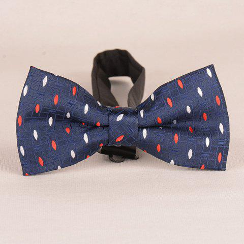Stylish Two Color Ellipse Jacquard Bow Tie For Men