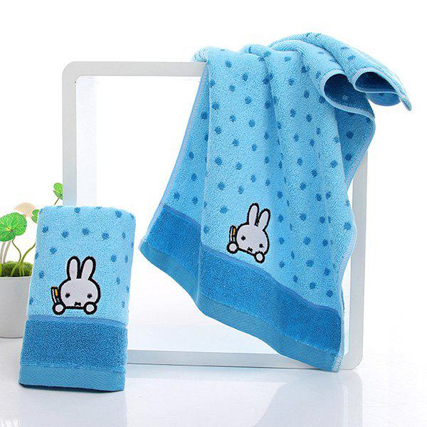 Cute New High Quality Soft Rabbit Pattern Face Towel - AZURE
