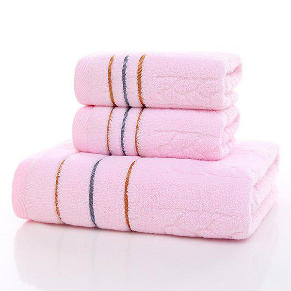 Simple New High Quality Comfortable Face Towel Hand Towel 3 Colours - PINK