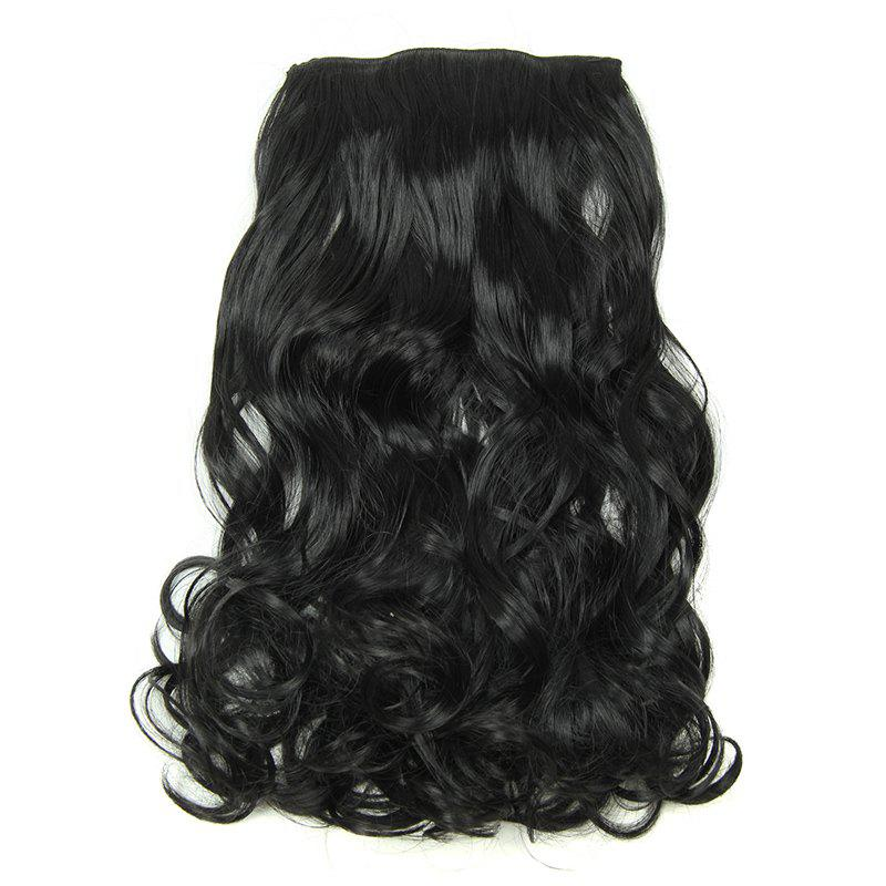 Fluffy Curly Assorted Color Long Charming Clip-In Synthetic Womem's Hair Extension Suit - B