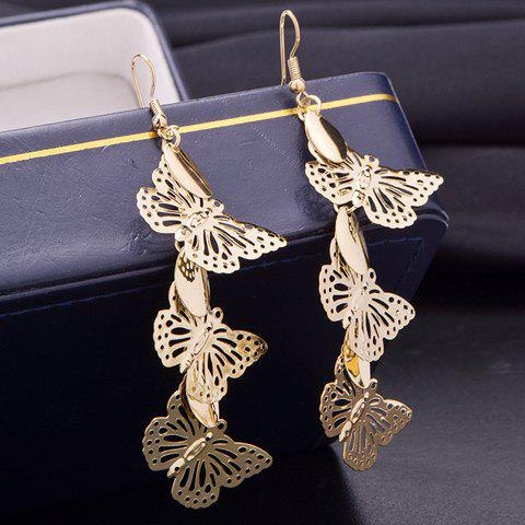 Pair of Trendy Hollow Out Butterfly Earrings For Women