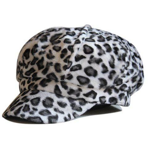 Chic Leopard Pattern Women's Downy Newsboy Cap - RANDOM COLOR